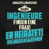 JGA Team Ingenieur Strong Sky Blue RAHMENLOS Berufe Geschenk Männer T-Shirt von Spreadshirt®, XL, Schwarz -
