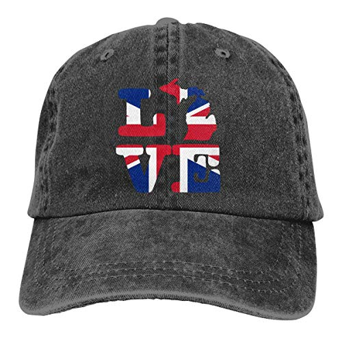 j65rwjtrhtr Men & Women Adjustable Denim Jeans Baseball Kappen I Love Michigan Map British Trucker Cap