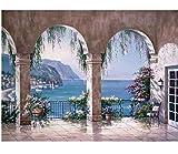 Seascape Acrylbild DIY Digitale Malerei Nach Anzahl Moderne Wandkunst Leinwand Gemälde Einzigartiges Geschenk Für Wohnkultur Frameless 40x50cm