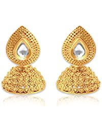 Spargz Traditional Look Gold Plating Kundan Jhumki Earring For Women AIER 668