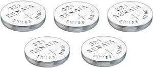 5 X Renata 321 Knopfzellen Uhrenbatterien Swiss Made Silberoxid Sr616sw 1 5 V Auch Bekannt Als Uhren
