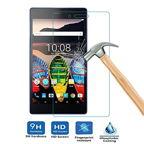 ELTD® Tempered Glass Displayschutzfolie für Lenovo Tab 3 7.0, Glass 1-Glass Pour Lenovo Tab 3 7.0