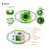 AMKOV Kids Digital Camera, Mini 1.44 Inch Screen Action Children's Camera with 16g TF Card and Batteries - Green