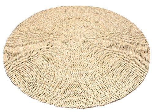 NaDeco Strohteppich schlicht 60cm rund | Maisstrohteppich Natur | Stroh Teppich | Maisstroh Teppich | Reisstrohteppich | Naturteppich