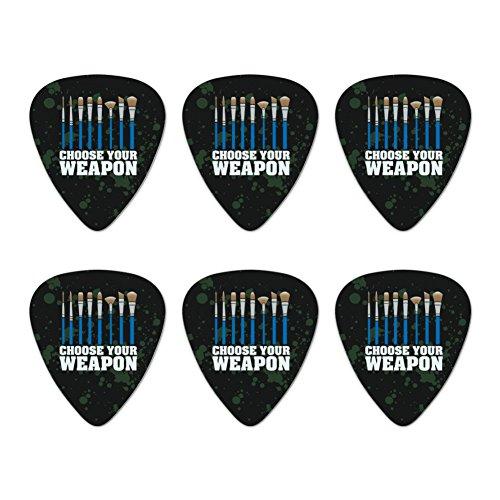 (Wählen Sie Ihre Waffe Künstler Pinsel Neuheit Gitarre Plektrum Plektron Picks Stärke Medium–Set of 6)