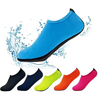 OverDose Unisex Barefoot Water Skin Shoes Aqua Socks for Beach Swim Surf Yoga Exercise