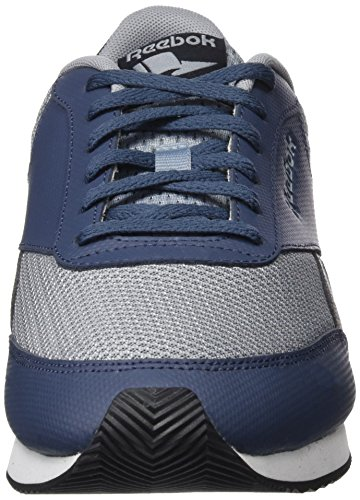 Reebok Royal Classic Jogger 2, Sneakers Basses Homme, HS Collegiate Navy/Vital Blue/Free Blue/Yellow/White Gris (Meteor Grey/smoky Indigo/black/white)