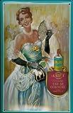 Blechschild Nostalgieschild 4711 Ball Dame Eau de Cologne Werbeschild Parfum Retro Werbung Schild