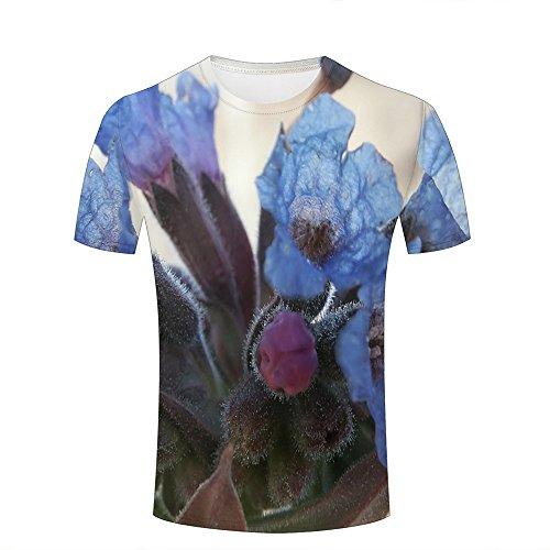 Herren Fashion 3D Print T-Shirts Mysterious Flower Stamen Graphics Summer Casual Short Sleeve Tees M