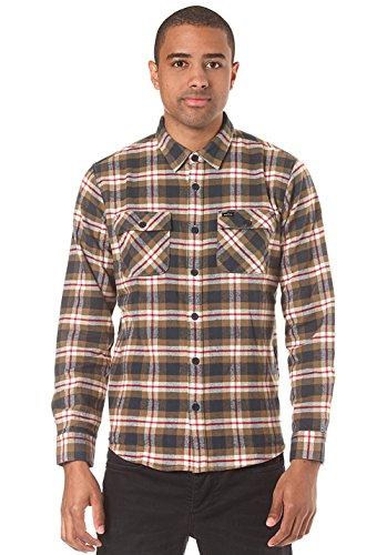 rvca-uomo-chemise-a-carreaux-last-day-beige-et-kaki-pour-homme-
