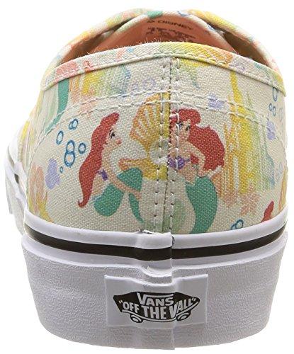 Vans U Authentic Disney, Baskets Basses Mixte Adulte Multicolore (Disney/Ariel/White)