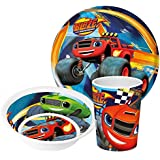 Blaze and the Monster Machines Niños Service con plato, cuenco y taza de melamina
