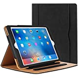 iPad Air Case - Leather Stand Folio Case Cover for Apple iPad Air Case with Multiple Viewing Angles, Document Card Pocket (Black)