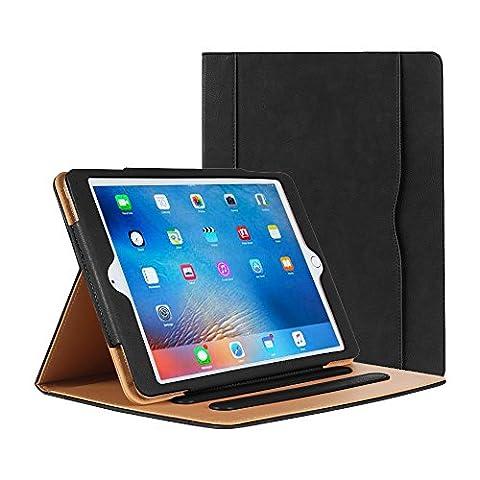 iPad Pro 9,7Étui–Étui folio avec support en Cuir pour Apple iPad Pro 24,6cm Étui 2016, avec multiples angles de visualisation, document poche pour carte, Couleur