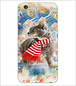 PrintDhaba Cat D-3179 Back Case Cover for APPLE IPHONE 6 (Multi-Coloured)