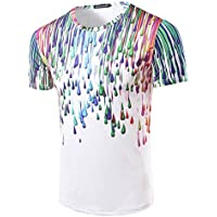 T-shirt Hombres camiseta _ gotas de lluvia EFECTO DE MANGA CORTA Camiseta de hombres,XL