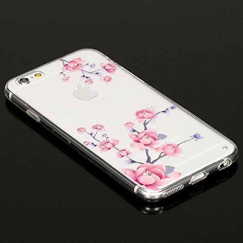 iPhone 6 6S Hülle Handyhülle von NICA, Slim Silikon Motiv Case Crystal Schutzhülle Dünn Durchsichtig, Etui Handy-Tasche Back-Cover Transparent Bumper für Apple iPhone 6S 6 - Blooming Flowers Blooming Flowers