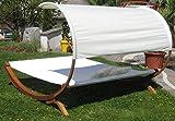 Doppel Gartenliege mit Sonnendach und Kissen von ASS - 3