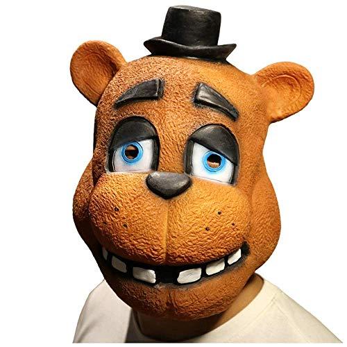 YaPin Tier Teddy Bear fünf Midnight Harem Spiel Zeichen Halloween Kostüm Party Party lustige Waschbär Maske Kopfbedeckungen