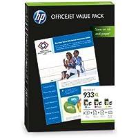 1originale HP CR711AE Value Pack 933X L Ciano/Magenta/Giallo per HP Officejet 6700Premium–Set di 100Ti-Sa da 10x 15cm, 210g (lucido)
