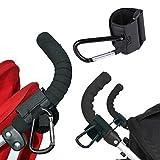Crochets de poussette, SAVORI 2PCS Crochets en alliage universel pour chariot bébé, crochets amovibles pour accrocher des sacs à provisions, sacs à main