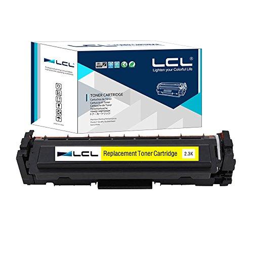 LCL 410A CF412A (1-Pack Amarillo) Cartuchos de Tóner Compatible para HP Color Laserjet Pro M452dn M477fdw M477fnw/M452nw