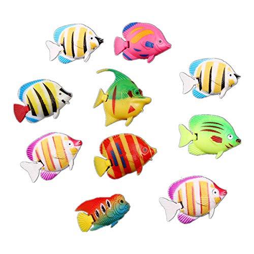 Toyvian Künstliche Fische Simulation Gefälschte Fische Schwimmende Lebendige Landschaft Aquarium Ornament Dekoration 10 stücke (Gelegentlich) (Schwimmenden Tank Dekoration Fisch)