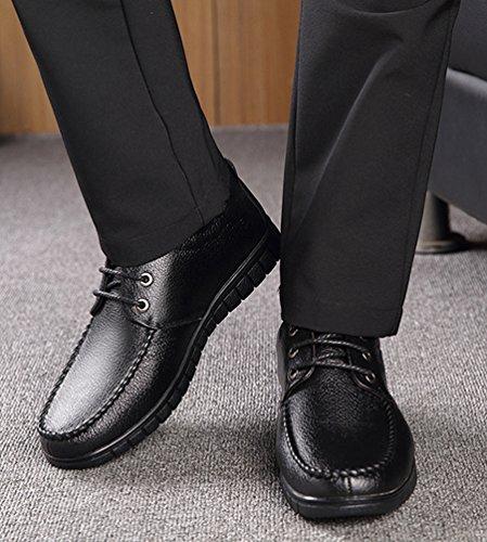 Yiiquan Hommes Doux Loisir Chaussures Classique Bateau PU Cuir Conduite Flâneurs Mocassin Décontractées Chaussures Noir