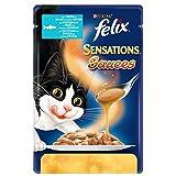 FELIX Sensaciones Salsas trucha comida para gatos mojada F.Media
