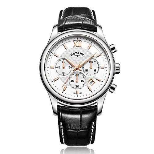 Rotary-Mens-Quartz-Watch-with-White-Dial-Chronograph-Display-and-Black-Leather-Strap-GS0034606