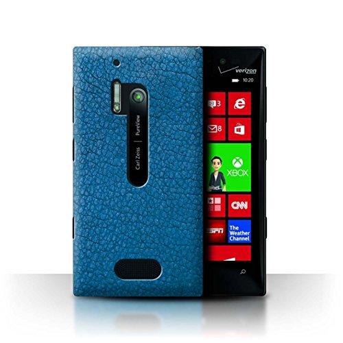 Stuff4 Hülle / Case für Nokia Lumia 928 / Wasser Blau Muster / Leder Patch Effekt Kollektion (Nokia Lumia 928 Case Blau)