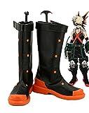 My Hero Academia Katsuki Bakugo Cosplay scarpe stivali Custom Made, donna, Black
