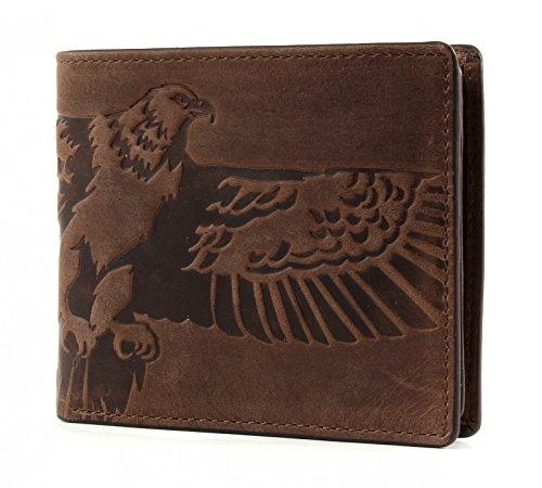 Fossil Geldbörse EAGLE bifold Braun Adler ML3962-200 Herren Portemonnaies Leder (Herren-geldbörse Bi-fold)