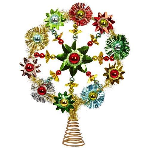 RAZ Imports Weihnachtsbaumspitze im Retro-Stil, Mehrfarbig, 24 x 31,8 cm