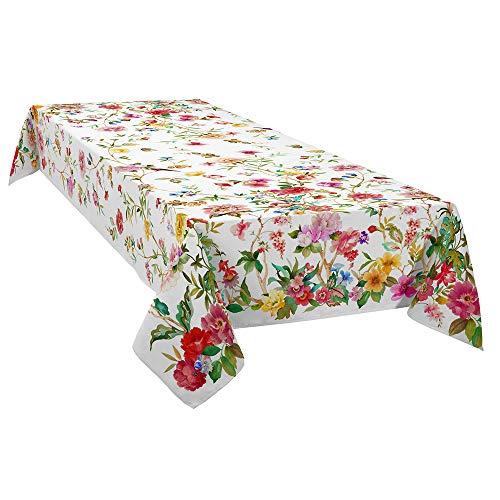 DAGOSTINO HOME BOUTIQUE COLLECTION Dagostino Home Tischdecke Coventry, die Kunst der Tisch, 100% Baumwolle, Behandlung, schmutzabweisend, Design Handbemalt 150x220 cm.