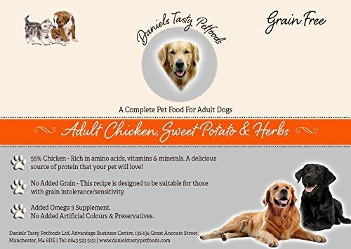Welpenfutter Hundefutter–Huhn, Sweet Potato & Kräuter