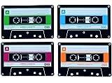 Invotis Das 4er Set Kassette Untersetzer aus Silikon