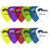 Tiger Gel Guitar Picks, Light-Heavy - 0.46-0.81 mm, Pack of 12