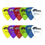 Tiger Gel Guitar Picks, Light-Heavy - 0.46-0.81 mm, Pack of 12