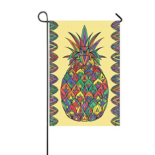 interestprint Boho Ananas Polyester Garten Flagge Haus Banner 30,5x 45,7cm, Tropical Fruit Fahne Deko für Hochzeit Party Yard Home Outdoor Decor