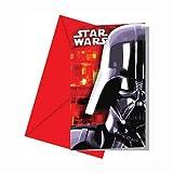 Star Wars Einladungskarten mit Umschlag 6 Stück Bunt 9x14cm Einheitsgröße