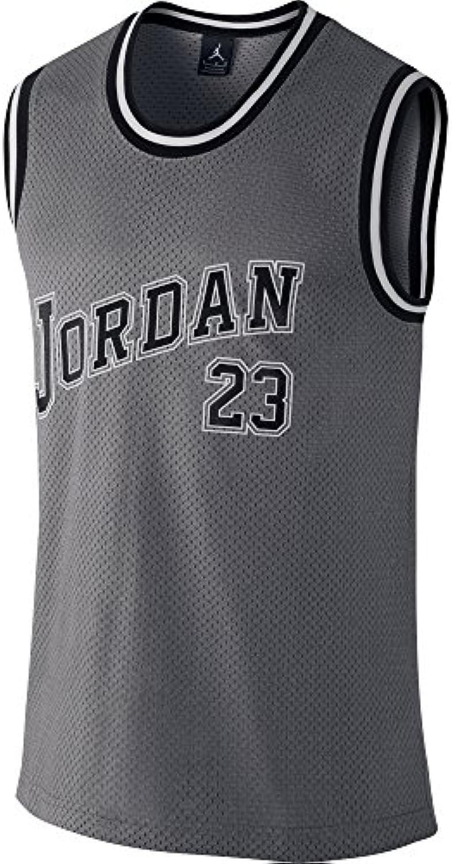 Nike Varsity Jersey tanque chaleco, Dk gris brezo/negro, M