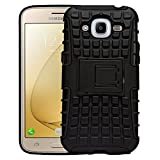 Shoppers Point Samsung Galaxy J2 Series Defender Stylish Armour Protector Shockproof + TPU 360° Protection with Hybrid Kickstand Back Case Cover