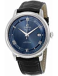 Omega de Ville Prestige 424.13.40.20.03.002 Reloj de pulsera automático para hombre, con esfera azul y correa negra