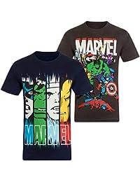 Marvel Comics - Jungen T-Shirt mit Charakteren wie Hulk, Iron Man & Thor - Offizielles Merchandise - Geschenk