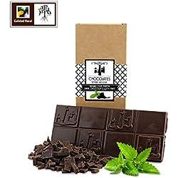 Chocolate negro artesano con menta