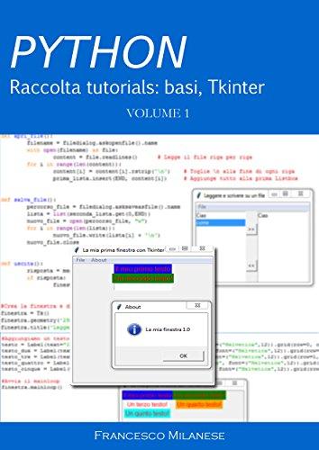 PYTHON tutorials - Volume 1: basi, Tkinter (Italian Edition) (Python Basis)