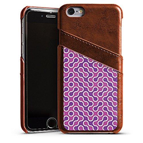 Apple iPhone 6 Housse Étui Silicone Coque Protection Lilas Rose vif Motif Étui en cuir marron