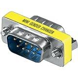 Inverseur de genre D-SUB fiche mâle/fiche mâle à 9 broches-Câble et adaptateur pour ordinateur