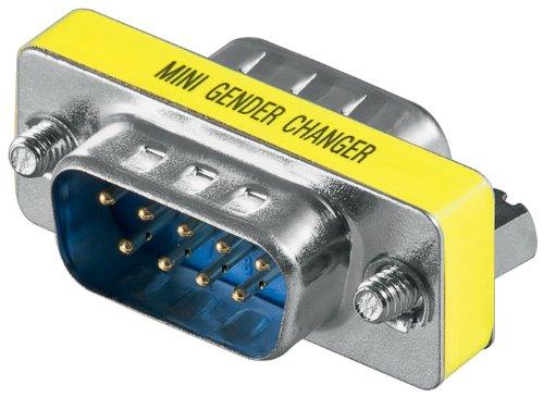 Gender Changer D-SUB 9 pol. Stecker auf 9 pol. Stecker